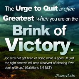 brink of victory