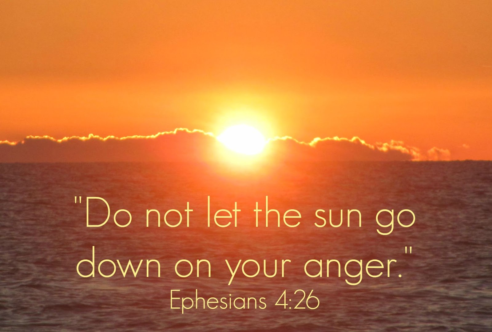 Image result for don't let the sun set on your anger